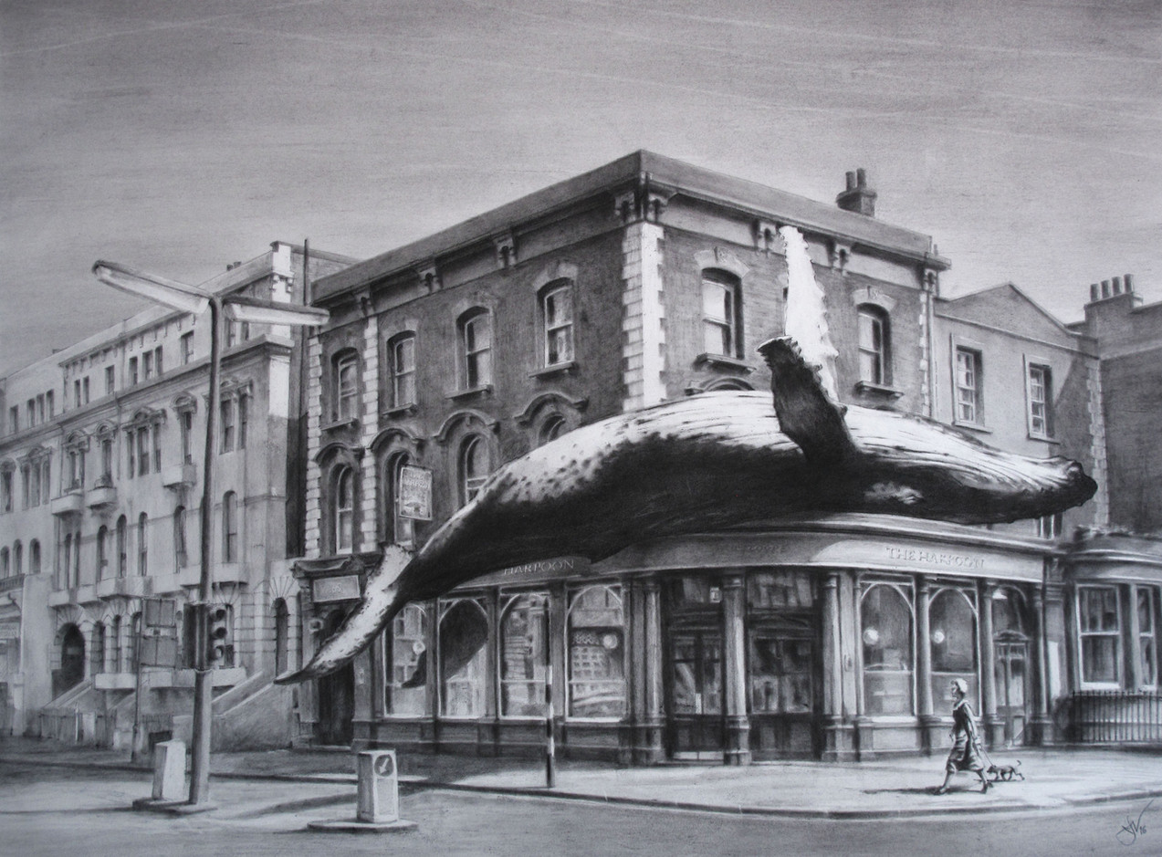 Harpoon. Pastel & charcoal on paper. 60x90cm