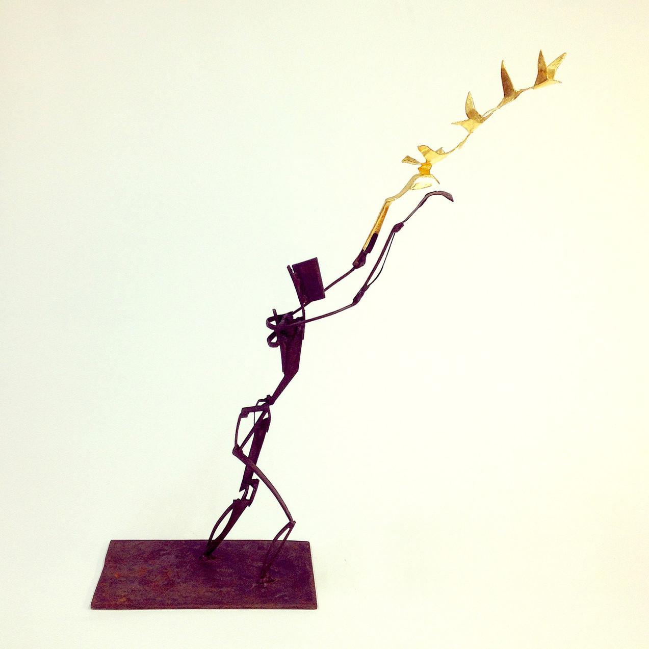 Reach. Steel&Gold. 40cm