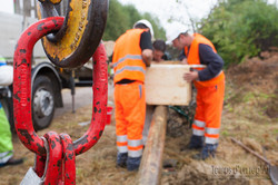 Equipe d'Orange sur chantier