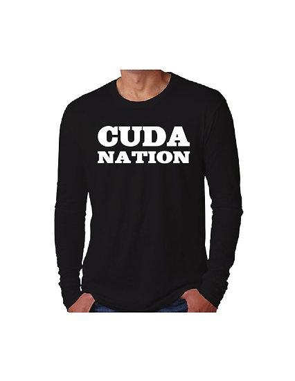 Long sleeve black Cuda Nation