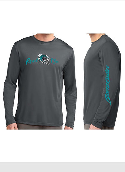 Reef Life Dri-Fit Long Sleeve in gray, CREW NECK