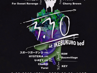 2018.03.30(金) 池袋bedにKEYが出演