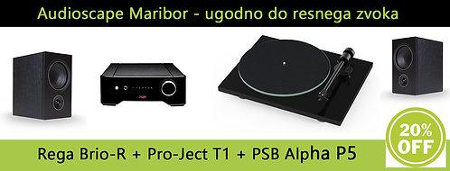 Rega Brio + Pro-Ject T1 + PSB Alpha P5 - HiFi sistem