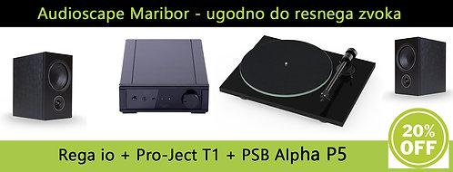 Rega io + Pro-Ject T1 + PSB Alpha P5 - HiFi complete Setup