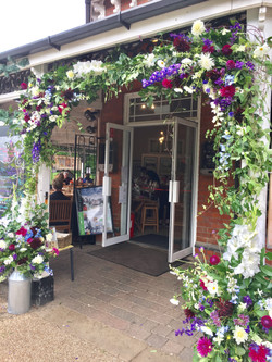 Bedford Pavillion flower arch