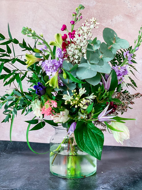 Large vase of blooms