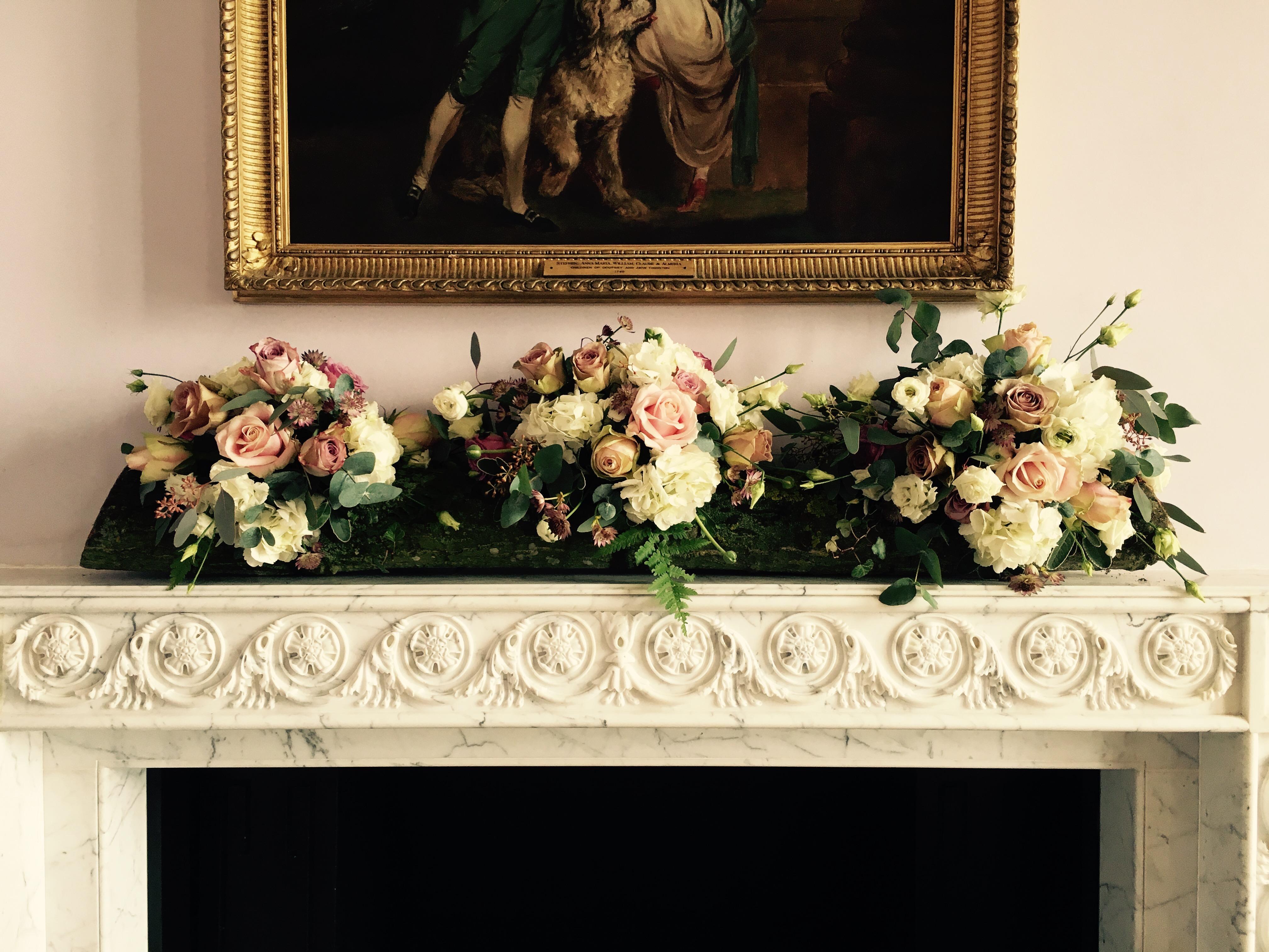 Moggerhanger mantlepiece flowers