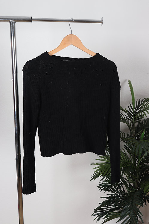 Black Ribbed Turtleneck sweater   sm