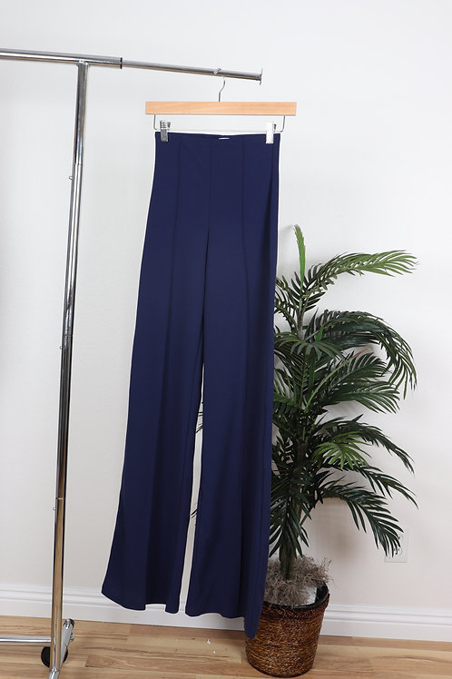 Navy High waisted trousers | Sm