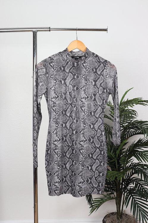 High neck snake dress   sm