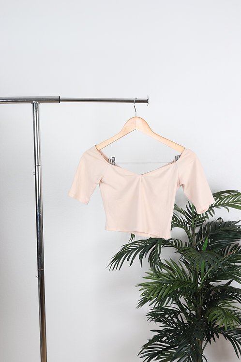 Off shoulder light pink crop top | Sm