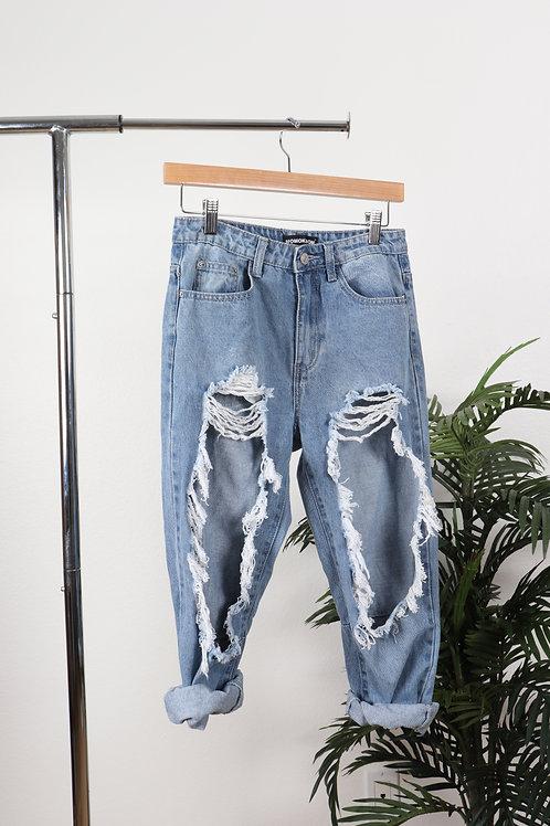 Destroyed boyfriend jeans | 6