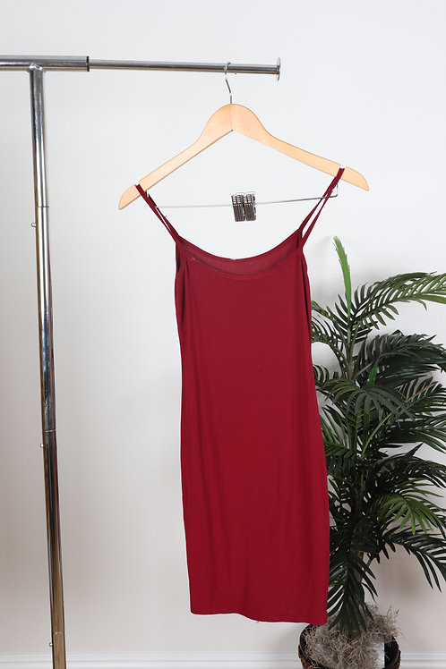 Maroon Day Dress | Sm