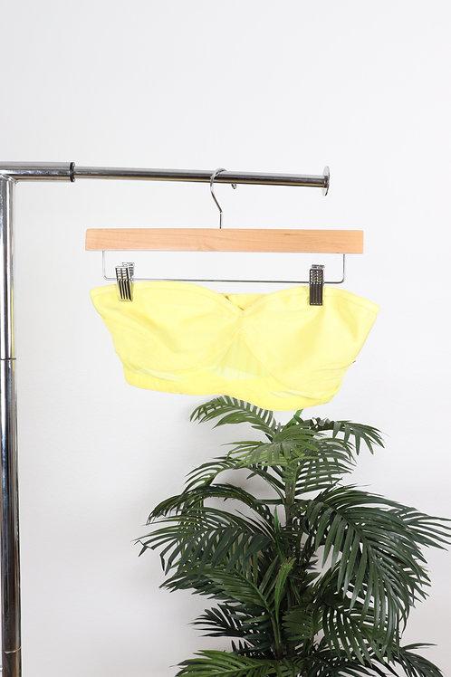 Yellow Bandage Crop Top | sm