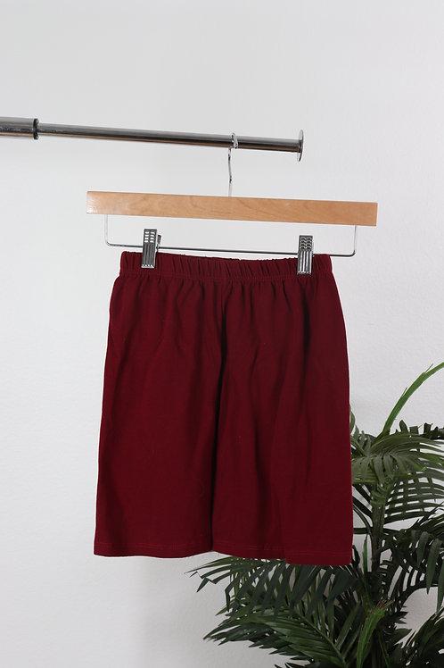 Maroon Biker Shorts   Sm