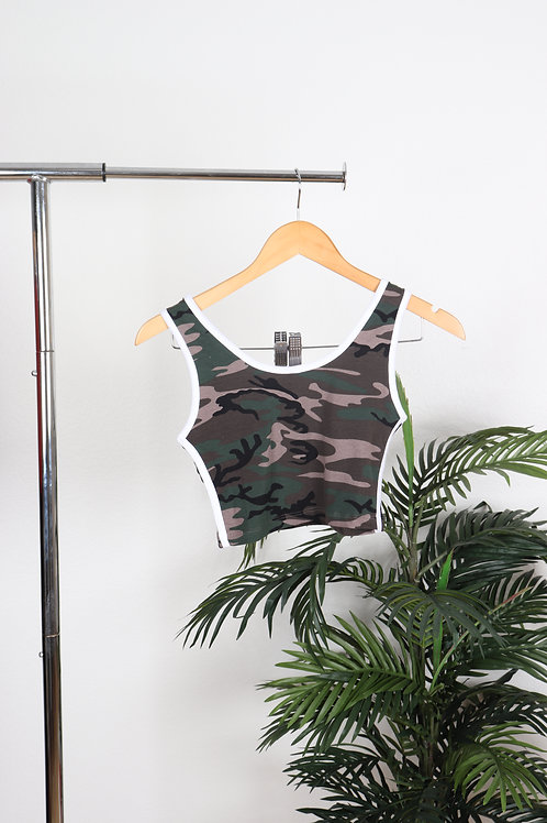 Camo shorts + crop top set | Sm