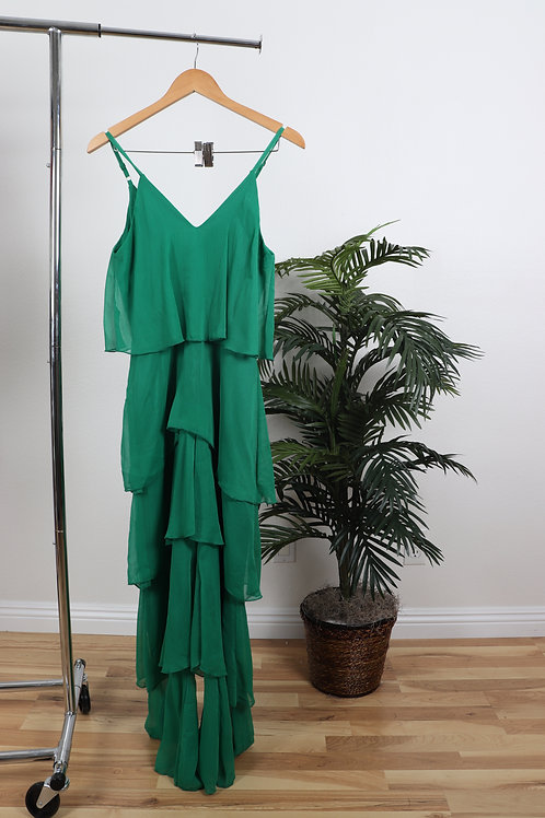 Green large Ruffle Jumpsuit | Sm