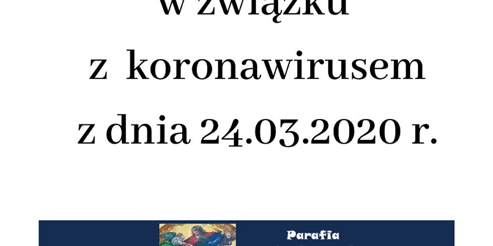 Komunikat z dnia 24.03.2020