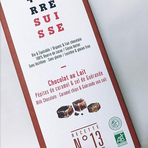 Chocolate +Carre con leche, Caramelo y flor de sal