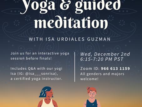 Yoga & Guided Meditation Fall 2020
