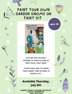 Garden Gnome or Garden Fairy Paint Kit