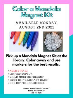 Color a Mandala Magnet Kit