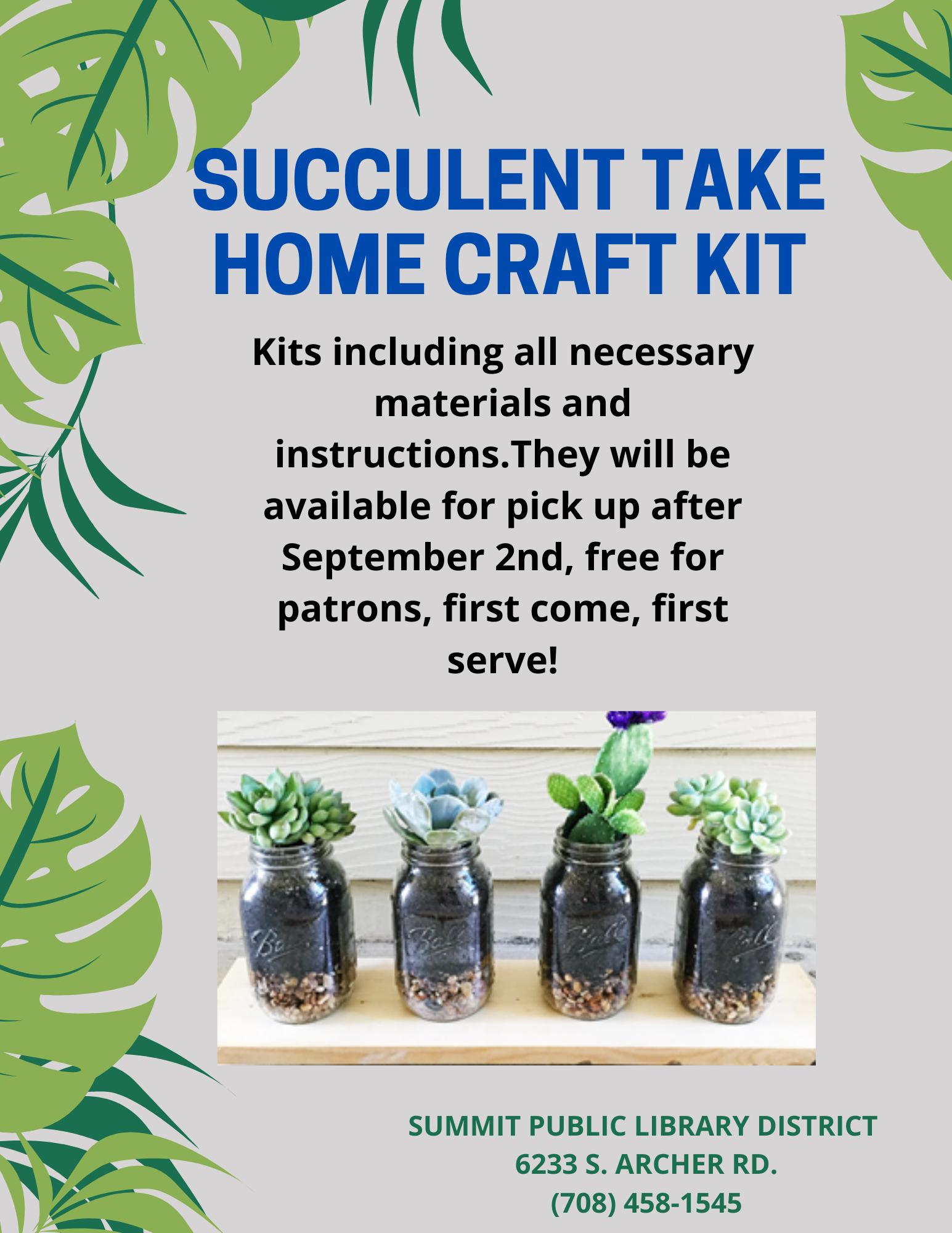 Succulent Take Home Craft