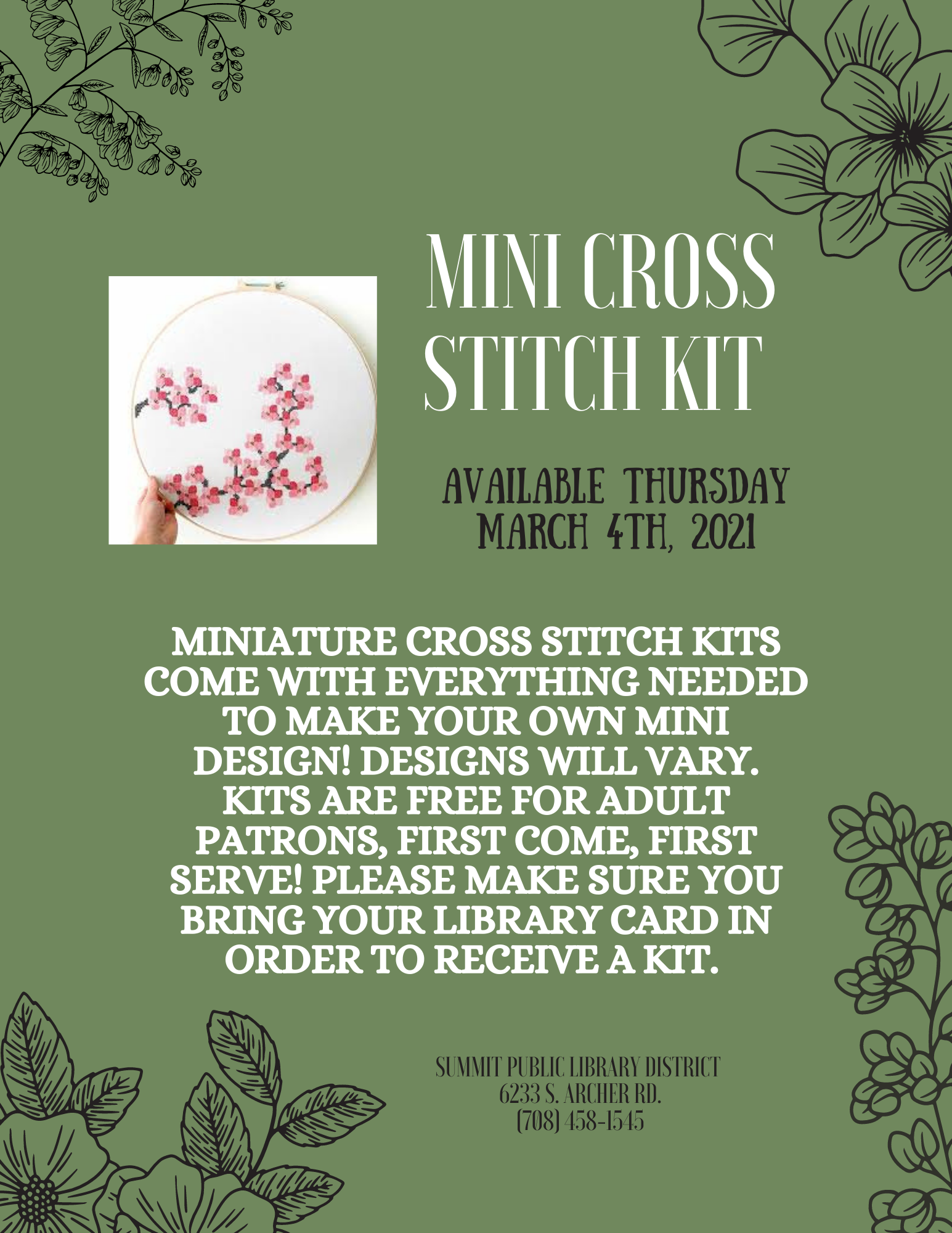 Mini Cross Stitch Kit