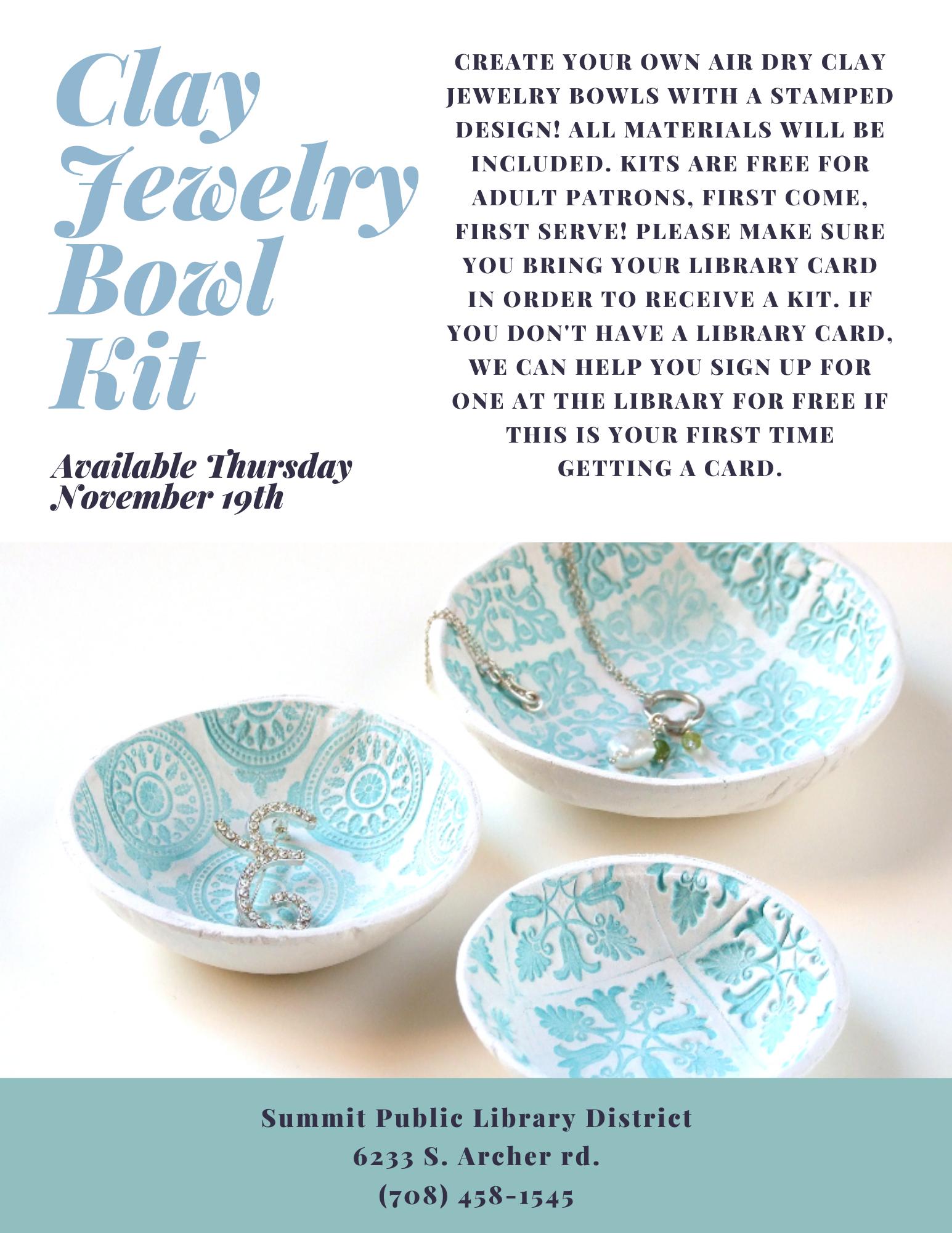 Clay Jewelry Bowl Kit