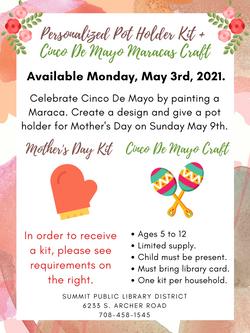 Personalized Pot Holders & Cinco De Mayo