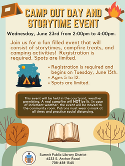 Camp out and Storytime