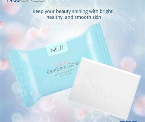 SAKURA BEARBERRY SOAP WITH GLUTATHIONE