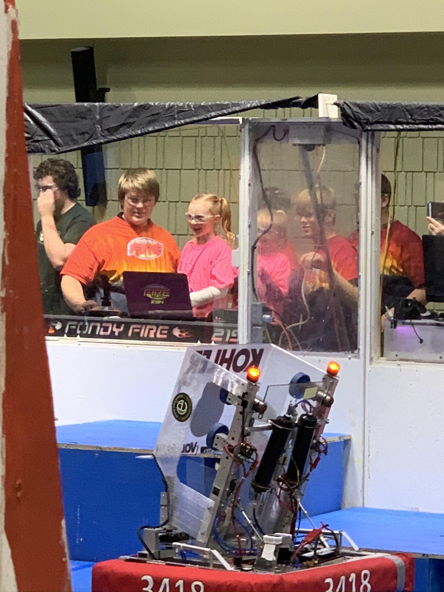 FLL Jr students driving FRC robots