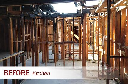 fire damage kitchen Four Seasons Restora