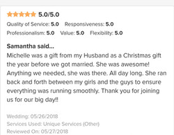 wedding planner review