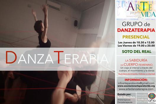 cartel taller danzaterapia presencial so