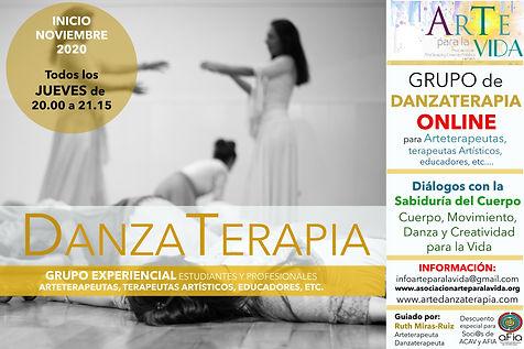 cartel taller danzaterapia ARTETERAPEUTA