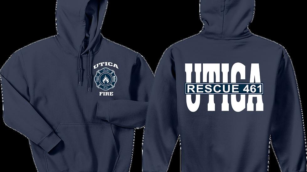 Utica Fire Navy Blue Hoodie