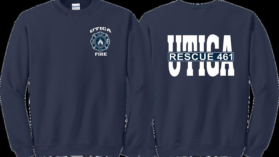 Utica Fire Navy Blue Crew Sweatshirt