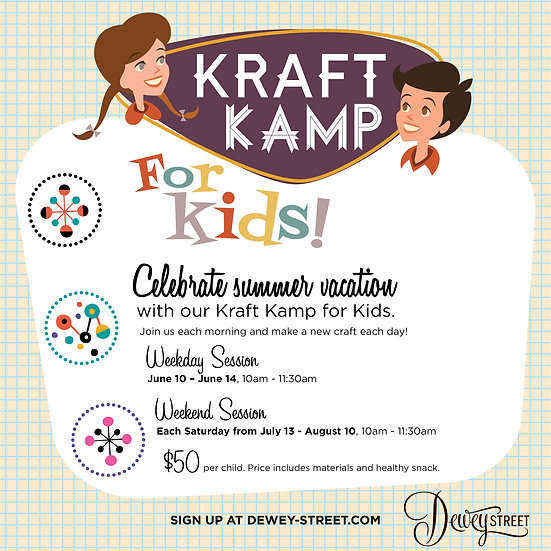 Kids Kraft Kamp-June Session