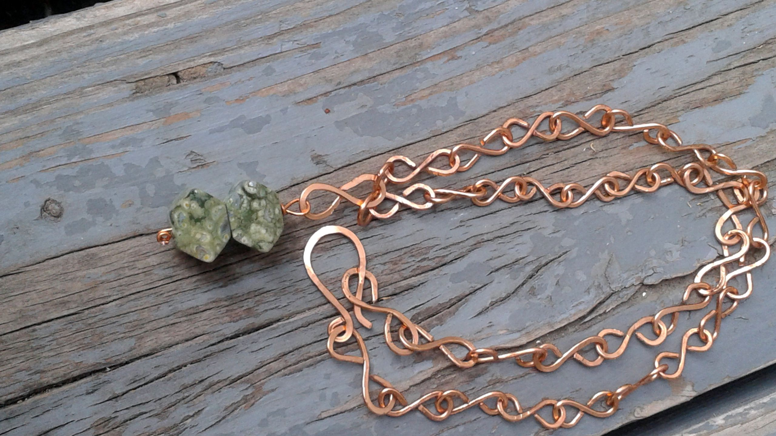Ryolite and Copper Necklace