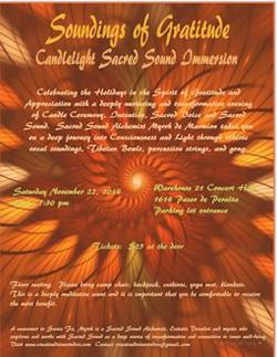Thanksgiving Sound event flyer