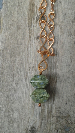 Hand-hammered Copper and Ryolite