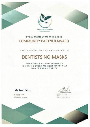 Dover Park Hospice Award Certificate.jpe