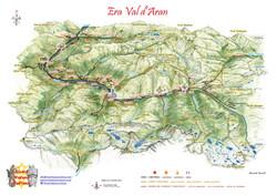 Mapa Val d'Aran Rivard Novell