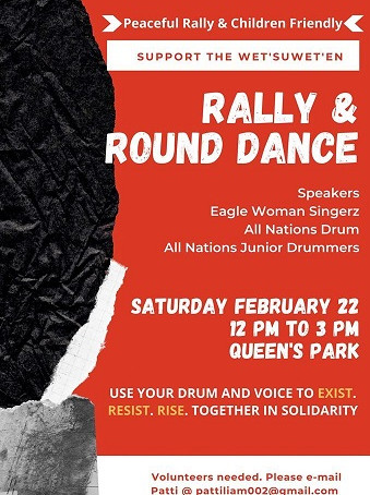 Sat Feb 22, noon - Toronto in Support of Wet'suwet'en