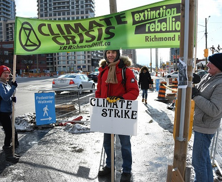 Dec 15, 2019 - A successful Intersection Action by Extinction Rebellion Richmond Hill