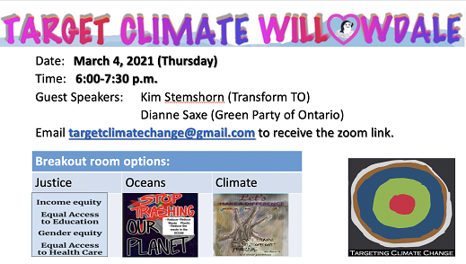 March 4 - Target Climate Willowdale Event