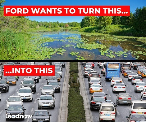 Tell Ford: Don't pave over our Greenbelt, scrap Highway 413 now