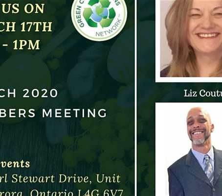 POSTPONED - Tues Mar 17, 11am - Green Connections Network March 2020 Meeting - Liz Couture, speaker